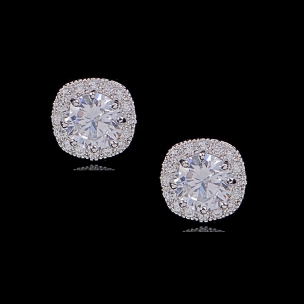 CUBIC ZIRCONIA COLLECTION - CHIC STUD EARRINGS