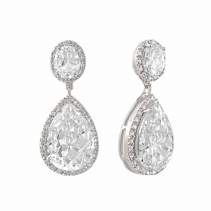 SHEER ELEGANCE EARRINGS - SILVER